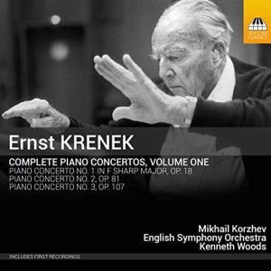 "ESO Recording ""Krenek Piano Concerti vol. 1"" with pianist Mikhail Korzhev a Sunday Times ""Best of the Year"" for 2016"