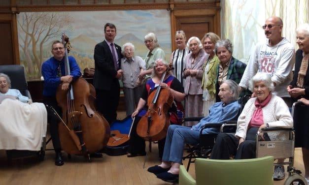 ESO String Quartet At Droitwich Spa Dementia Meeting Centre