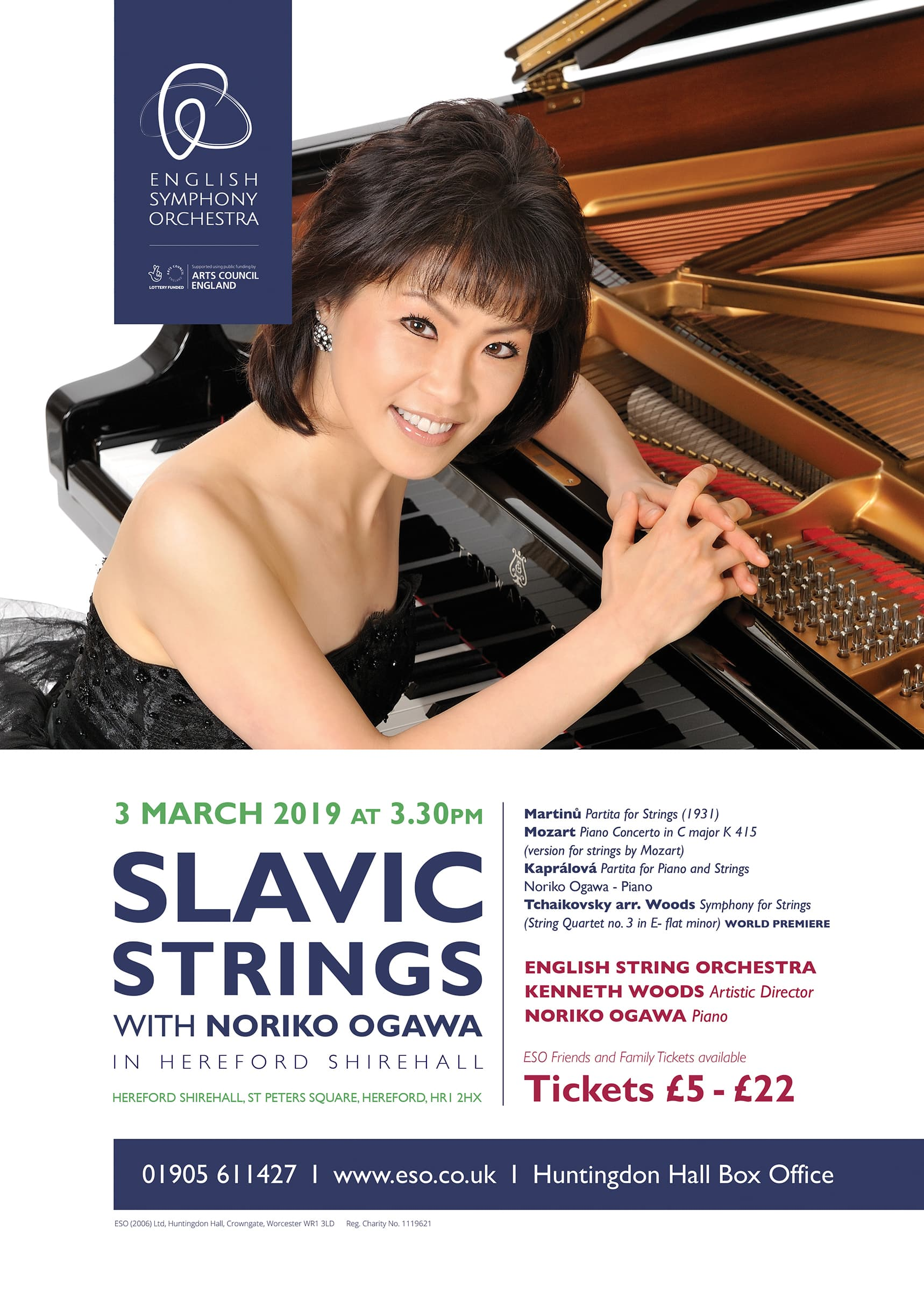 Inside the Music – 3rd March Hereford Shirehall, Mozart, Tchaikovsky, Kaprálová  and Martinů